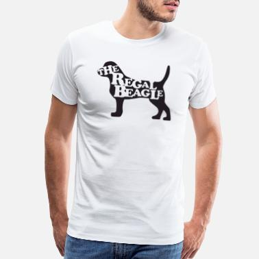 Crazy the beagle is here - Men's Premium T-Shirt