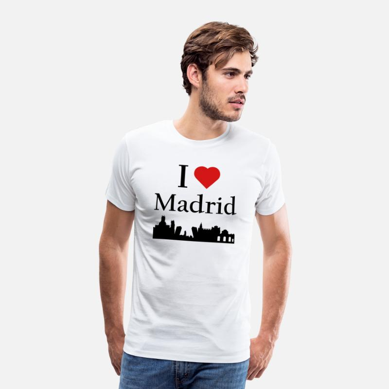 Heart T-Shirts - I Love Madrid - Men's Premium T-Shirt white