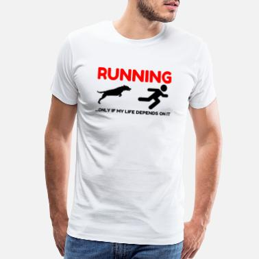 Pterodactyl Hate Running - Men's Premium T-Shirt
