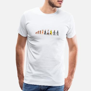 Suitcase Evolution - our far future - Men's Premium T-Shirt