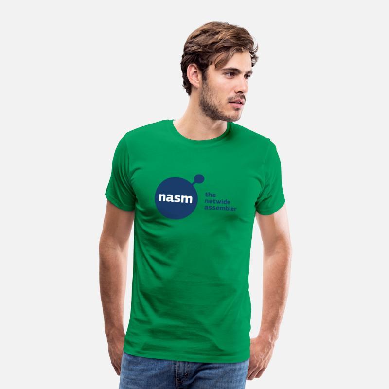 Netwide Assembler Men's Premium T-Shirt - kelly green