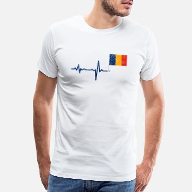 Constanza Heartbeat Romania flag gift - Men's Premium T-Shirt
