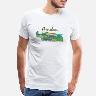 Slim Shenzhen China - Beautiful Places Around The World - Men's Premium T-Shirt