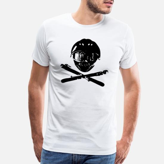 SKI SNOWBOARD MASK SKULL /& CROSSBONES DESIGN MENS PRINTED T-SHIRT