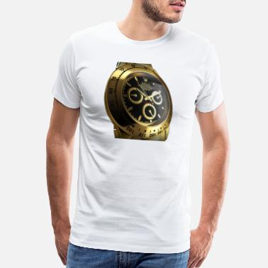 Luxe gold watch - Men's Premium T-Shirt