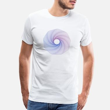 Colourful Hipster Gradient Circles 20 - Men's Premium T-Shirt