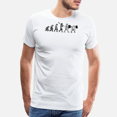 Human Evolution The Evolution of Human to Lifting - Men's Premium T-Shirt