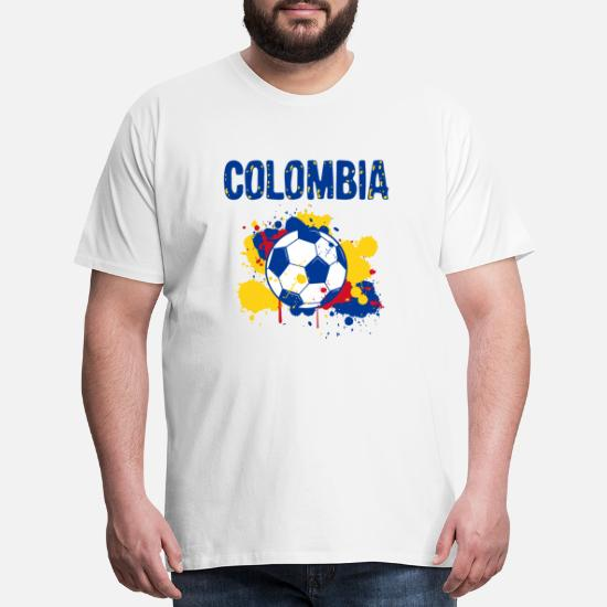 294c21e88d2 Men s Premium T-ShirtColombia Soccer Shirt Fan Football Gift Funny Cool
