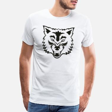 Wolfpack tropical jungle wolf - Men's Premium T-Shirt