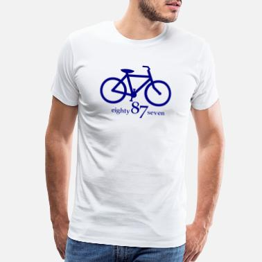 Collar Bike Design Blue 1 - Men's Premium T-Shirt