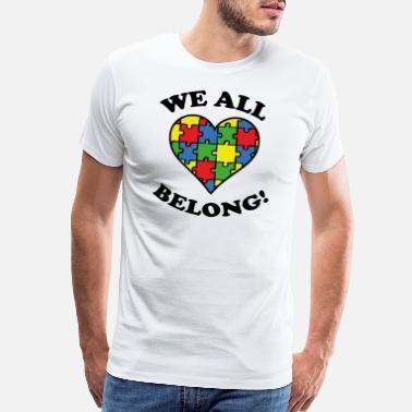 Green Turtle T-Shirts Camiseta para Mujer Concienciaci/ón sobre el Autismo Autism Awareness Heart Cut Puzzle