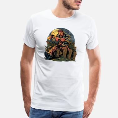 Boss Monster Zombies carrying axes going to a Halloween party - Men's Premium T-Shirt