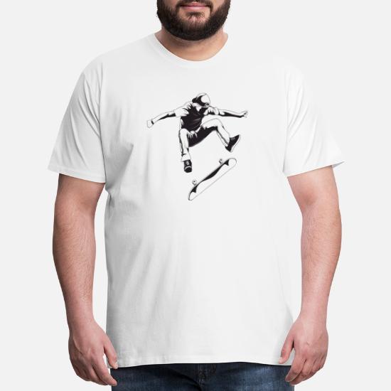 Skateboard Tee Skater Jump T-Shirt Fly The Board Hoodie