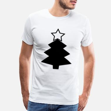 Traditional Holiday Tree Original Merry Christmas Happy Holiday Tree Star - Men's Premium T-Shirt