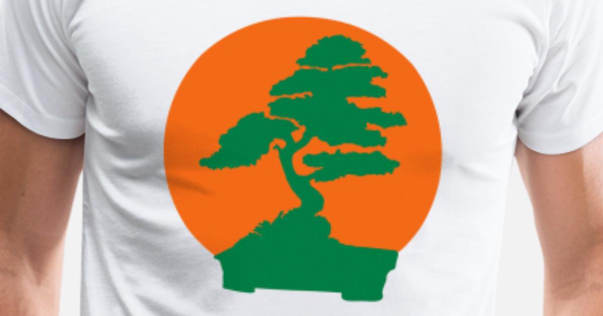Karate Kid Bonsai Tree 2 Color Flex Mens Premium T Shirt