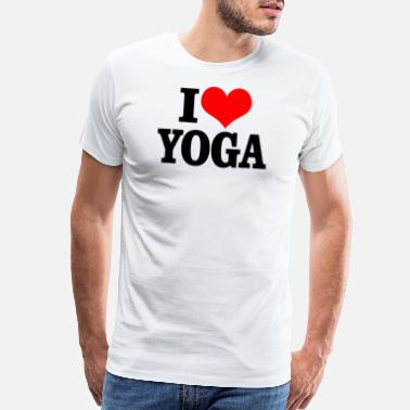 Ddp Yoga Yoga - i heart yoga - Men's Premium T-Shirt