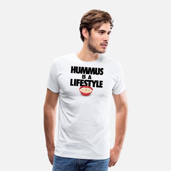 Middle East T-Shirts - Hummus Is a Lifestyle - Men's Premium T-Shirt white
