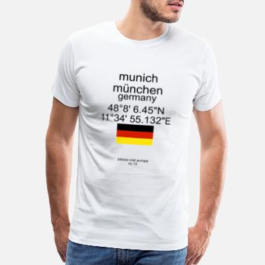 Bavarian Flag Munich Places - Men's Premium T-Shirt