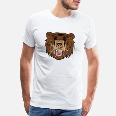 Cute Bear Retro Vintage Grunge Style Brown bear - Men's Premium T-Shirt