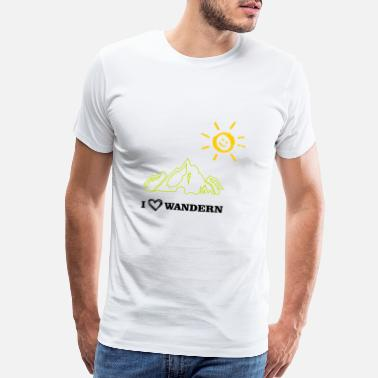 Sunshine I love hiking with sunshine - Men's Premium T-Shirt