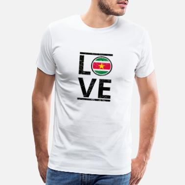 Suriname roots love heimat queen herkunft Suriname - Men's Premium T-Shirt