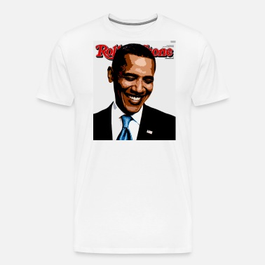 bea3ed8993e94e barack obama rolling stone Men s Ringer T-Shirt