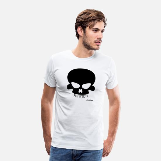 Gothic T-Shirts - Black Skull - Men's Premium T-Shirt white