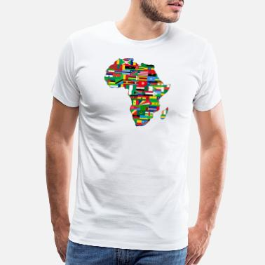 Map Africa Map - Men's Premium T-Shirt