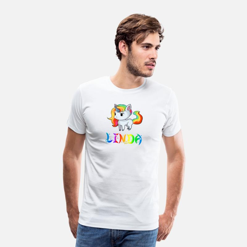 Linda Unicorn T-Shirts - Linda Unicorn - Men's Premium T-Shirt white