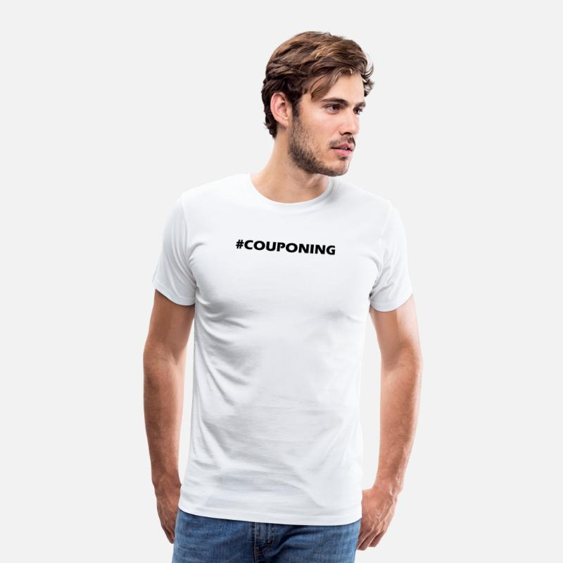 Codes T-Shirts - Couponing Discount Sale Shopping Mall Gift - Men's Premium T-Shirt white