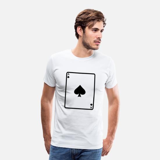 Ace T-Shirts - Card - Men's Premium T-Shirt white