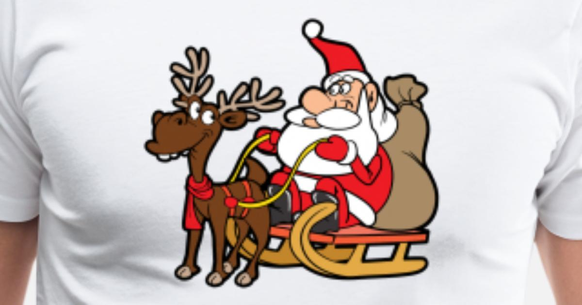 Funny Santa Claus Xmas Merry Christmas Reindeer by For More Designs ...