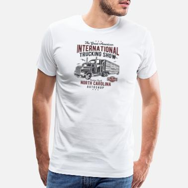 Pee Wees Big Adventure American Custom Big Truck Adventure North Carolina - Men's Premium T-Shirt