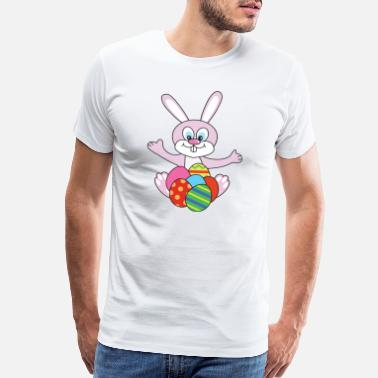 Catholics Easter Bunny - Men's Premium T-Shirt