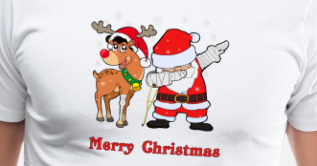 dabbing santa and his reindeer injured by mistermarvel spreadshirt