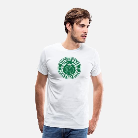 Volleyball T-Shirts - VOLLEY BALL SERVE HOT - Men's Premium T-Shirt white