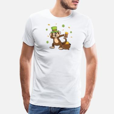 Beer Monkey Funny St Patricks Day Leprechaun Party gift Paddy - Men's Premium T-Shirt