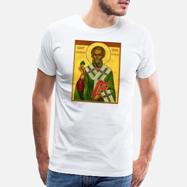 Icon St Patrick Orthodx Icon- Men's Tee - Men's Premium T-Shirt