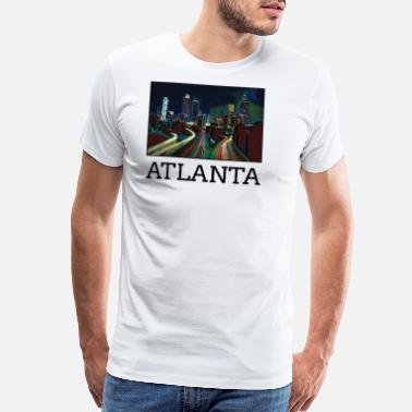 United Atlanta City Skyline USA US - Men's Premium T-Shirt