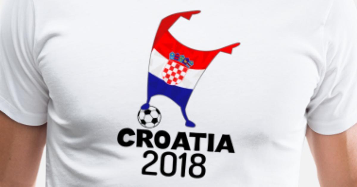 70acf8c359c Croatia Flag 2018 Football Cup Soccer Dabbing World Jersey Men's Premium T- Shirt | Spreadshirt