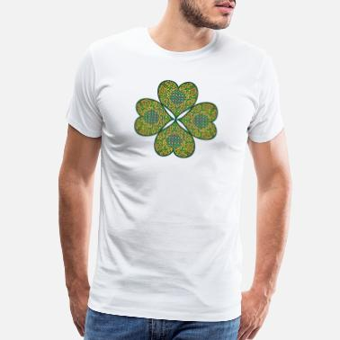 Clover Good Luck Lucky Celtic Four Leaf Clover St Patricks Day - Men's Premium T-Shirt