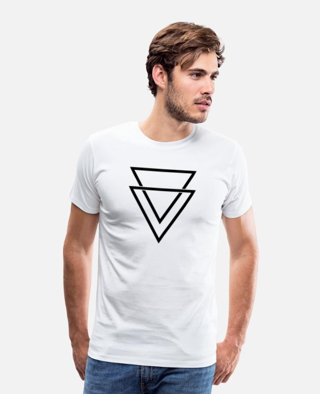 Line T-Shirts - double triangle - Men's Premium T-Shirt white