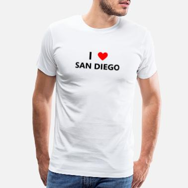 Southern California I Heart Love San Diego California CA City Beach - Men's Premium T-Shirt