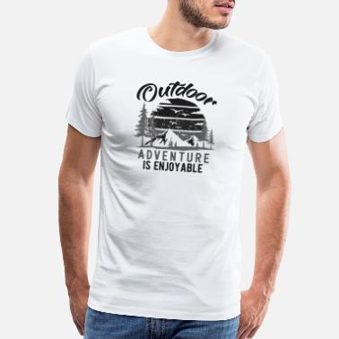 Elements Outdoor Adventure Is Enjoyable Vintage bw - Men's Premium T-Shirt