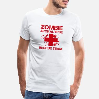 Male Zombie apocalypse emergency doctor ambulance - Men's Premium T-Shirt