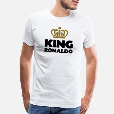 Ronaldo King ronaldo name thing crown - Men's Premium T-Shirt