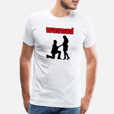 Marriage Slave Groom Gaming wedding humor T-Shirt - Men's Premium T-Shirt