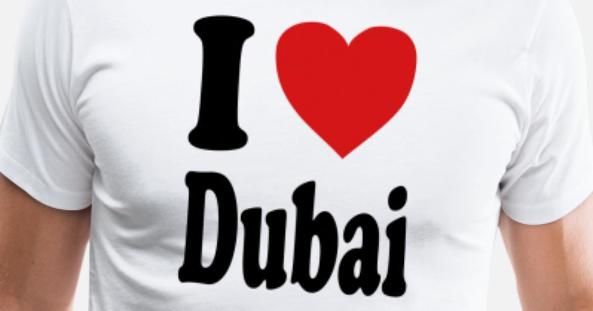 f8dbc105 I love Dubai (variable colors!) Men's Premium T-Shirt | Spreadshirt
