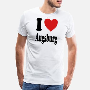 Augsburg I love Augsburg (variable colors!) - Men's Premium T-Shirt