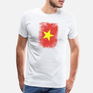 Vietnam Vietnam Flag Proud Vietnamese Vintage Distressed - Men's Premium T-Shirt